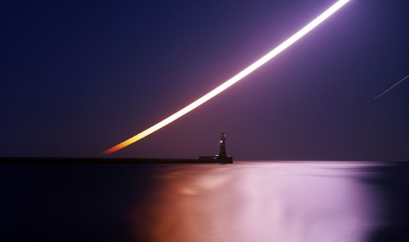 Andy Martin - Moonrise over Roker